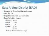 <h5>East Aldine District (EAD)</h5>
