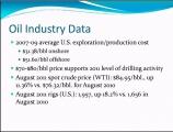 <h5>Oil Industry Data</h5>