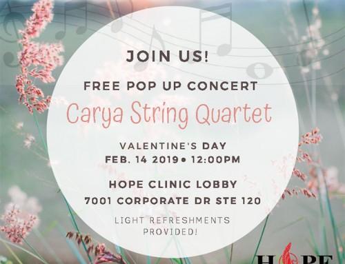Free Pop Up Concert – Carya String Quartet