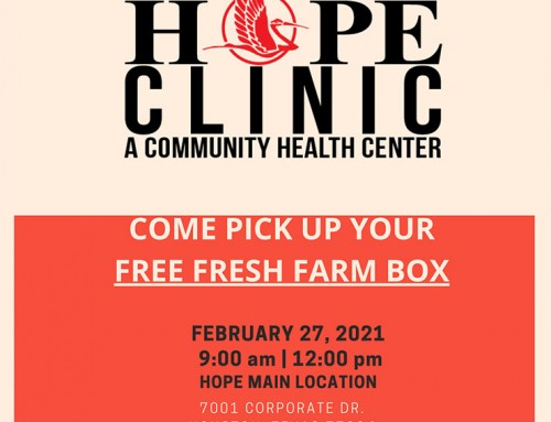 HOPE Clinic Food Drive-Thru Event, Feb. 27