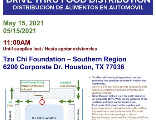 Tzu Chi Foundation: Drive-Thru Food Distribution, May 15